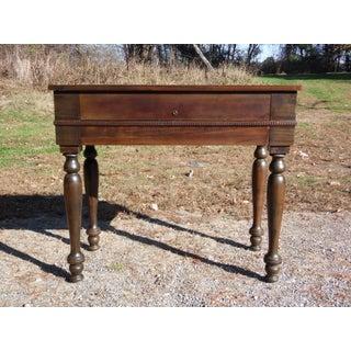Vintage Walnut Art Deco Flip Top Ladies Writing Spinet Desk Console Table Preview