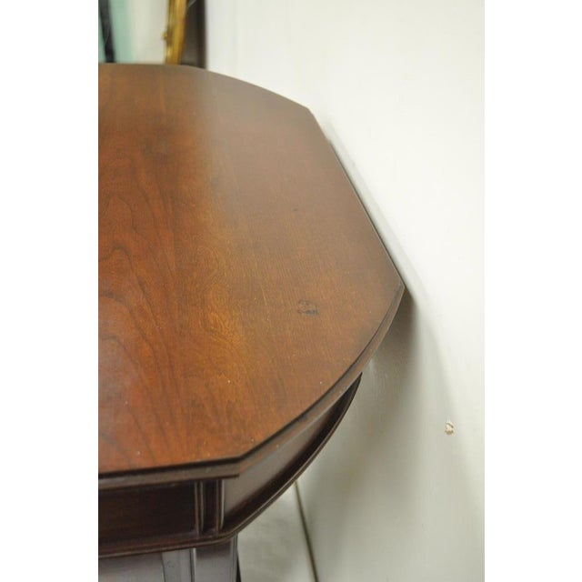 Brown Vintage Harden Solid Cherry Octagonal Storage Cabinet Occasional Side End Table For Sale - Image 8 of 11