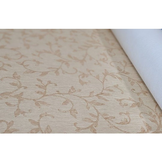 Beige & Gold floral face. Non woven fabric back. Manufacturer: MDC Made Between: 2010-2020 Class A Type II Vinyl. Perfect...