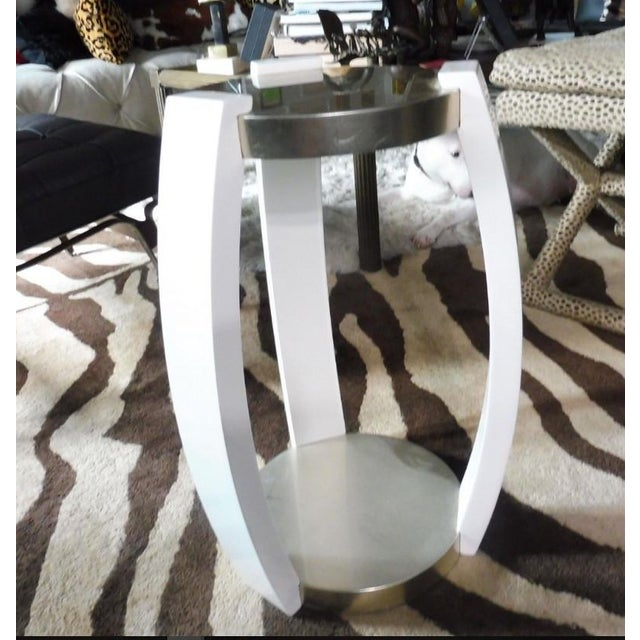2000 - 2009 Vintage Sally Sirkin Lewis for J. Robert Scott Harlow Side Table For Sale - Image 5 of 10