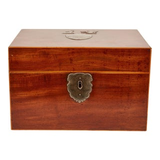 19th Century English Regency Tea Caddy For Sale