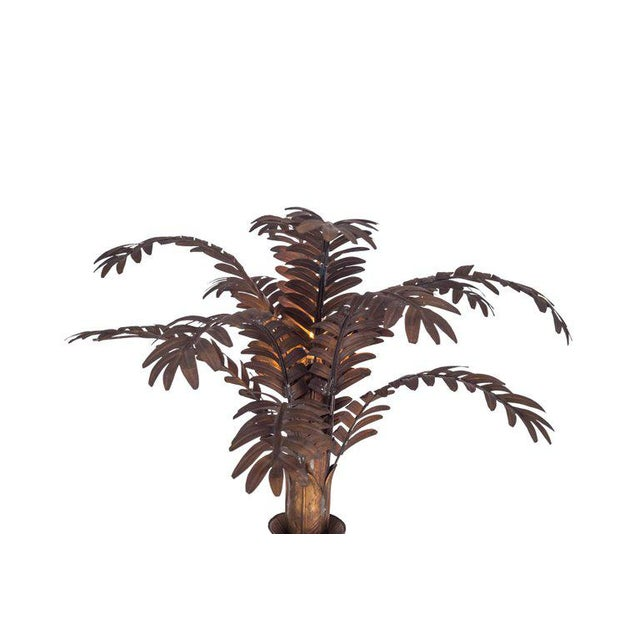 Maison Jansen Maison Jansen Style Palmtree Table Lamp in Copper For Sale - Image 4 of 10