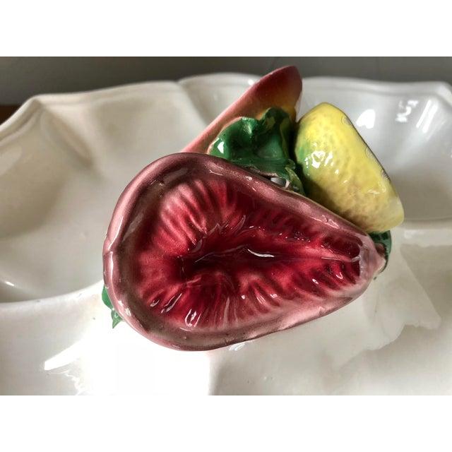 Vintage Italian Trompe l'Oeil Fruit Platter For Sale - Image 4 of 8
