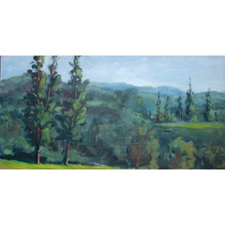 Jackson Rancheria Forest Plein Air Landscape Campground View Painting For Sale