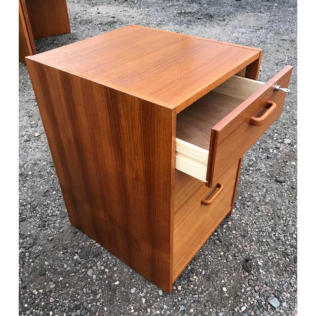Mid-Century Modern Danish Teak File Cabinet on Casters by Jesper For Sale - Image 3 of 13