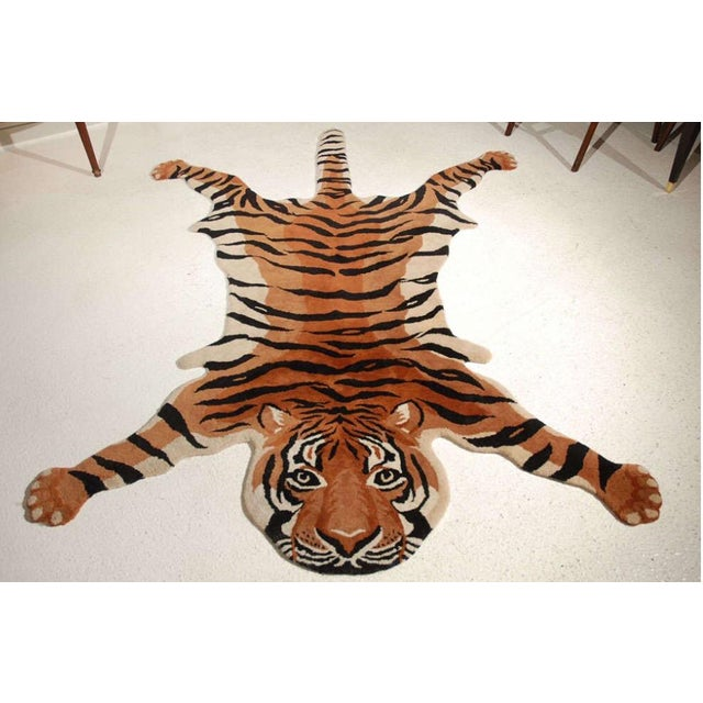 Vintage Wool Tiger Rug - Image 2 of 6