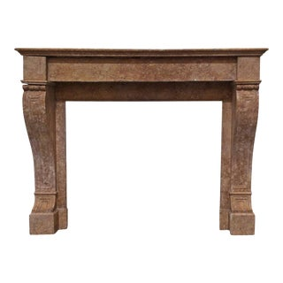 Louis XIV Sienna Marble Mantel For Sale