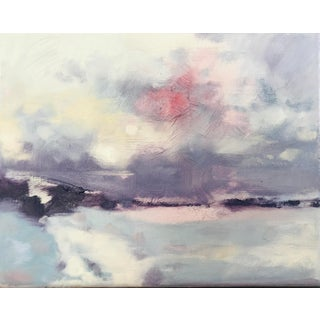Snowstorm at Dusk Contemporary Painting For Sale