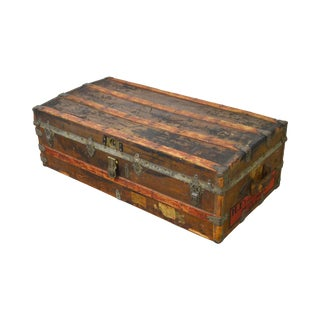Crouch & Fitzgerald Antique Traveling Trunk For Sale