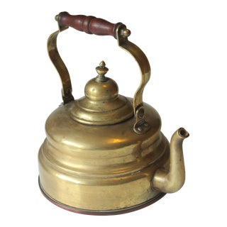 1930s Antique Large Brass and Copper Kettle by Schulte-Ufer Sus in Germany For Sale