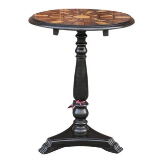 Anglo Indian Mosaic Inlay Top Side Table For Sale