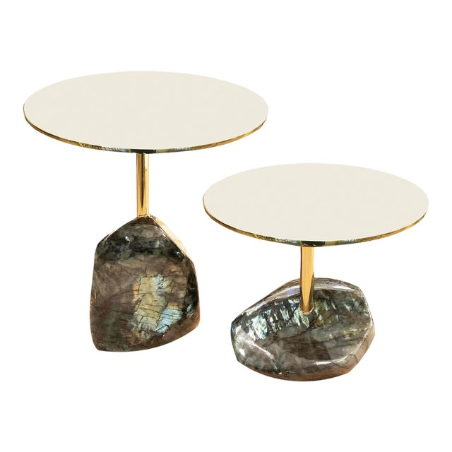 Labradorite Side Tables by Studio Superego - a Pair For Sale