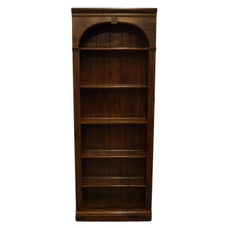 Ethan Allen Antiqued Pine Old Tavern Bookcase For Sale