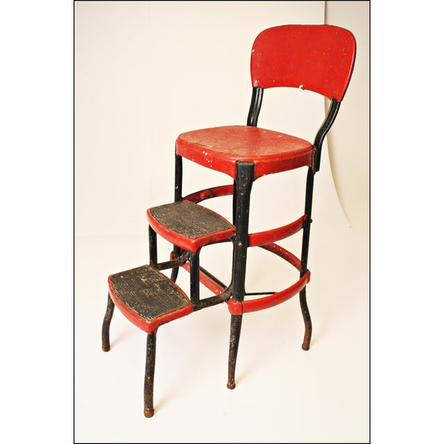 Mid-Century Metal Step Stool - Image 2 of 11