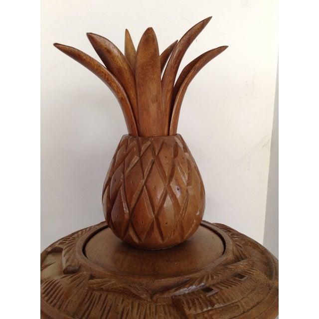 Vintage Teak Pineapple Server - Image 3 of 6