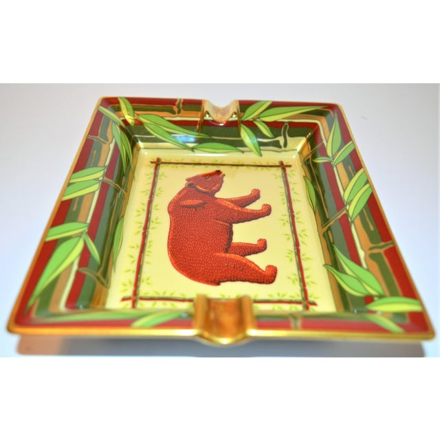 1970s Vintage Hermès Bear and Bamboo Cigar Tray For Sale - Image 5 of 13