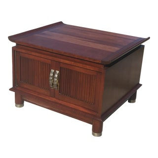 1940s Hollywood Regency Solid Cherry Side Table For Sale