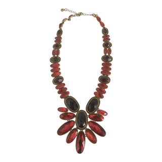 Nicole Miller Red Statement Necklace For Sale