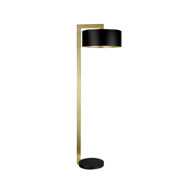 Chicago Lamp in Black Bronze With English Brass For Sale