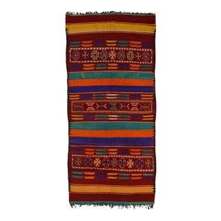 Vintage Berber Moroccan Kilim Rug - 05'10 X 12'06 For Sale