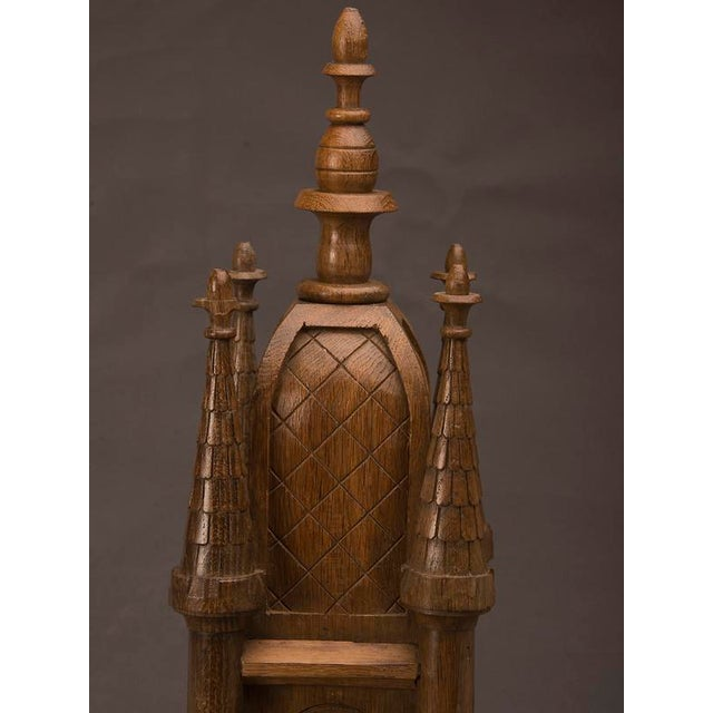 Late 19th Century 19th Century Wood Carved Small Scale Medieval Tower Model For Sale - Image 5 of 6