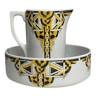 Art Deco Pitcher and Bowl - a Set For Sale
