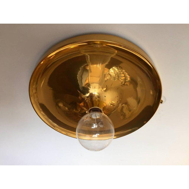 Mid-Century Modern German Honsel Space Age 1960s Flush Light For Sale - Image 3 of 11