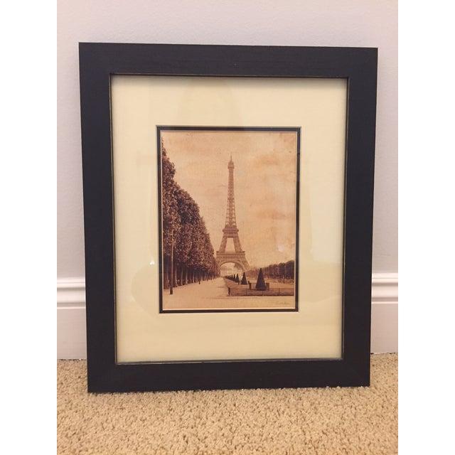 "Impressionism Paris ""La Tour Eiffel"" Sepia Print by Artist Cristin Atria For Sale - Image 3 of 3"