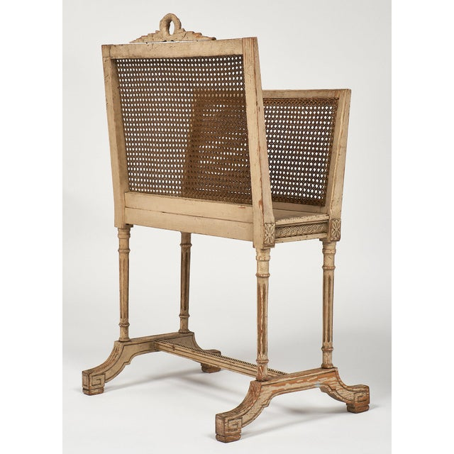 Beech Vintage Louis XV Style Magazine Rack For Sale - Image 7 of 10