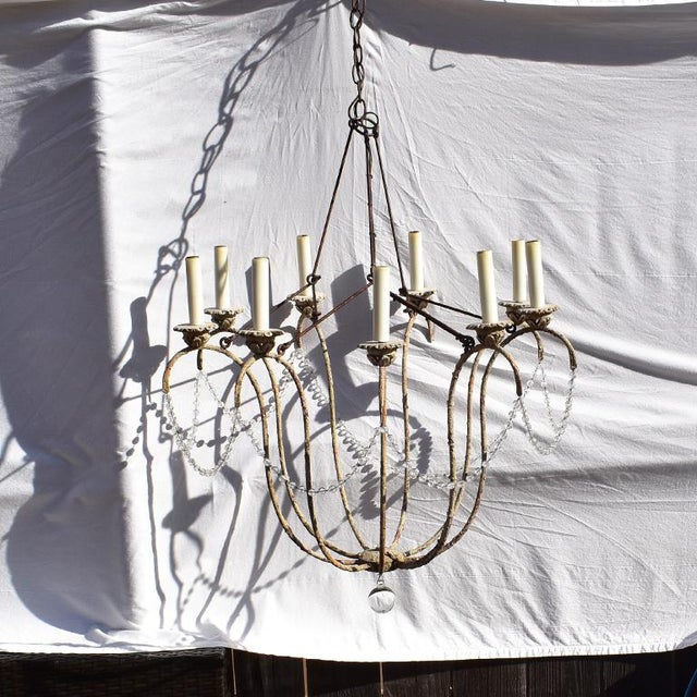 2010s Italian 12 Light Crystal Swag Chandelier by Niermann Weeks For Sale - Image 5 of 5