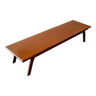 Custom Mid-Century Modern Oak Coffee Table For Sale