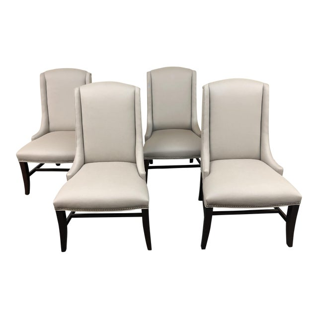 Bernhardt Upholstered Dining Chairs - Set of 4   Chairish