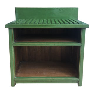 Green Contemporary Wood Table For Sale