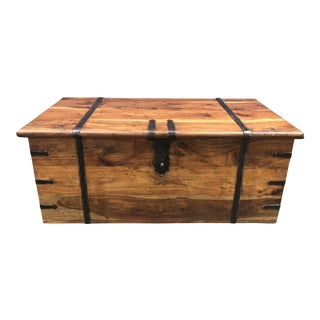 1900s Rustic Pine Blanket Chest/Coffee Table