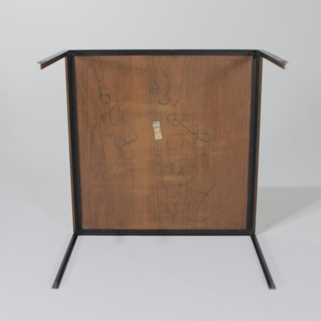 1950s Mid-Century Modern Florence Knoll T Angle Table With a Birch Laminate Top For Sale - Image 11 of 13