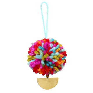 Bali X Cali Christmas Pom-Pom Bauble - Set of 10 - in Coastal MIX Colors For Sale