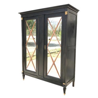 Ebonized French Bar Cabinet For Sale