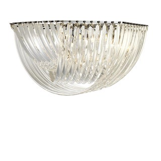 Round Lucite Ribbon Ceiling Lamp by Eichholtz Hyères For Sale