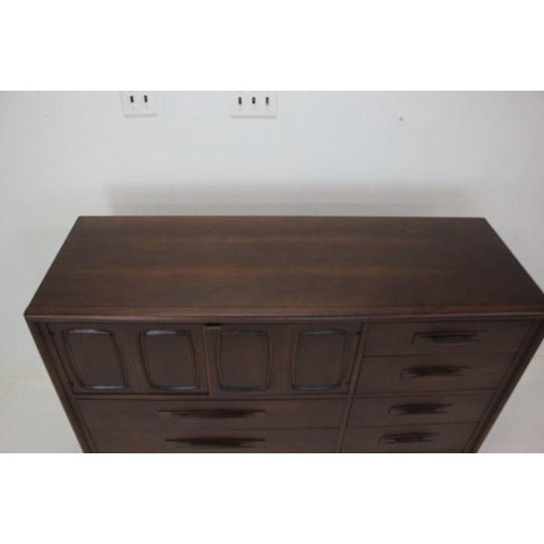 Wood Broyhill Emphasis Magna High Dresser For Sale - Image 7 of 8