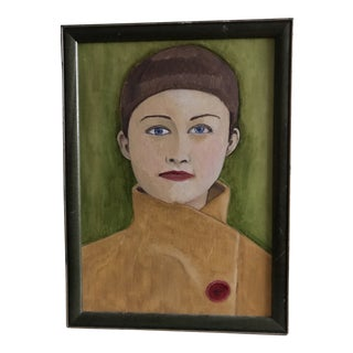 1980s Portrait of a Young Woman Painting For Sale
