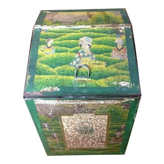Vintage 1920's Japanese Tea Tin For Sale