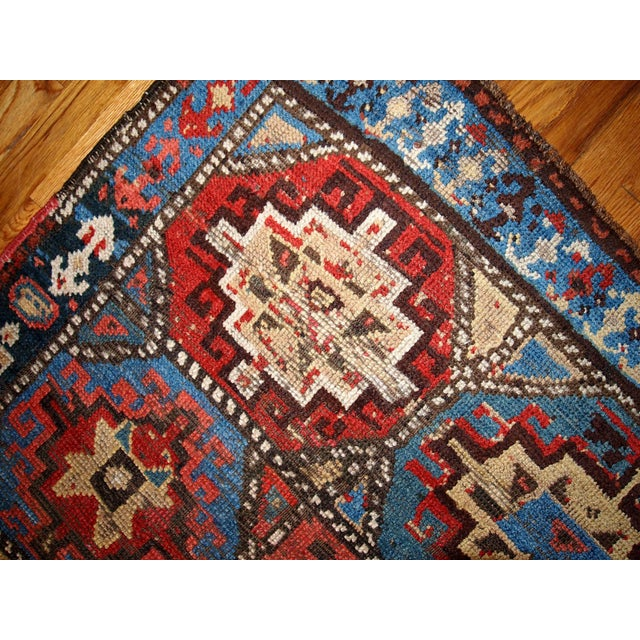 Hand Made Antique Collectible Persian Kurdish Rug - 3.5' X 4.6' - Image 5 of 6