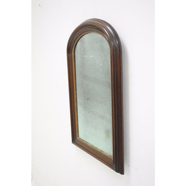 Antique american empire mahogany looking glass ogee wall for Looking for wall mirrors