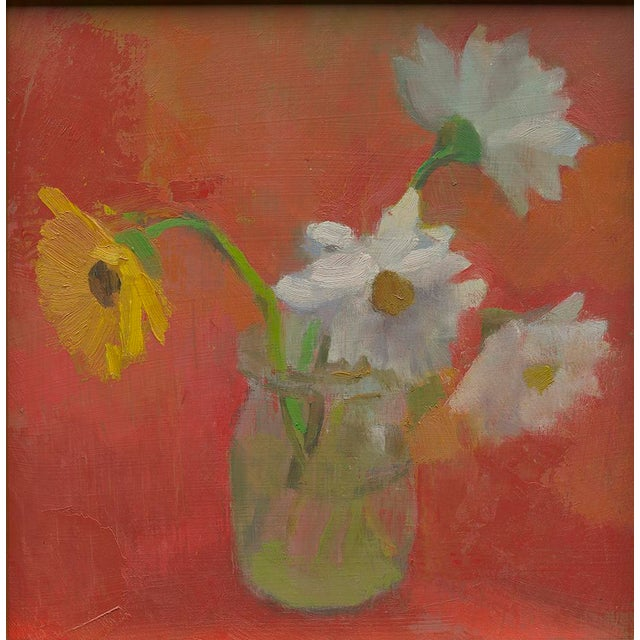 """Contemporary Amy Griffith Colley """"Four Daisies"""" Print For Sale - Image 3 of 3"""