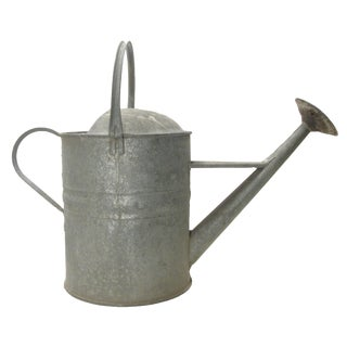 English Oversized Zinc Watering Can For Sale