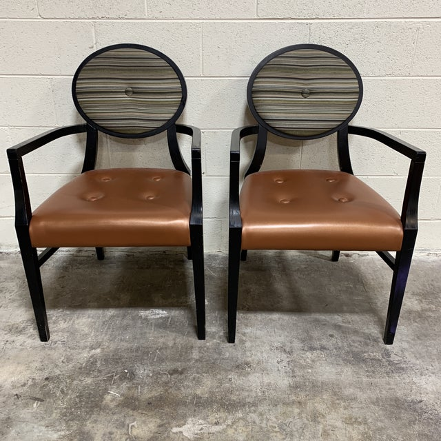 Art Deco Art Deco Style Accent Arm Chairs - a Pair For Sale - Image 3 of 13