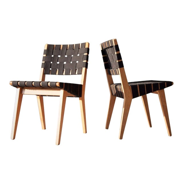 Vintage Jens Risom Chairs A Pair
