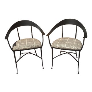 "Charleston Forge / Designers Guild ""Hudson Wrap"" Arm Chairs - A Pair For Sale"