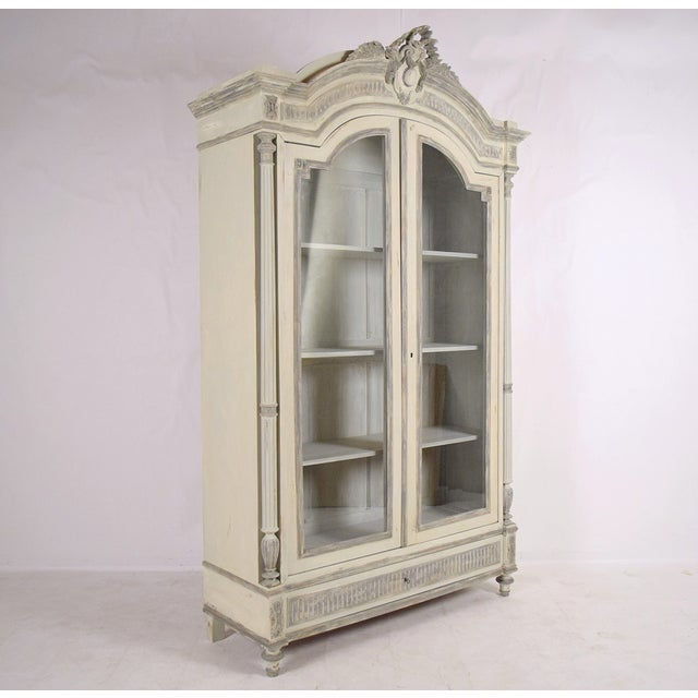 French Louis XVI Armoire-Style Bookcase - Image 3 of 10