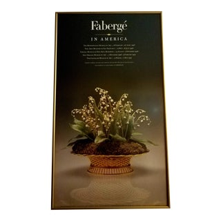 1996 Faberge Exhibit Poster, Framed For Sale